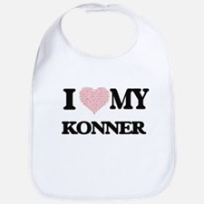 I Love my Konner (Heart Made from Love my word Bib