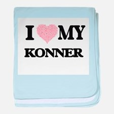I Love my Konner (Heart Made from Lov baby blanket