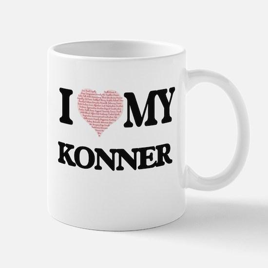 I Love my Konner (Heart Made from Love my wor Mugs