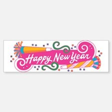 Happy New Year's Party Bumper Bumper Bumper Sticker