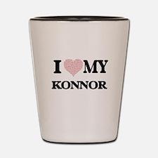 I Love my Konnor (Heart Made from Love Shot Glass