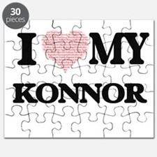 I Love my Konnor (Heart Made from Love my w Puzzle