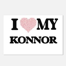 I Love my Konnor (Heart M Postcards (Package of 8)