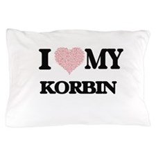 I Love my Korbin (Heart Made from Love Pillow Case