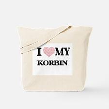 I Love my Korbin (Heart Made from Love my Tote Bag