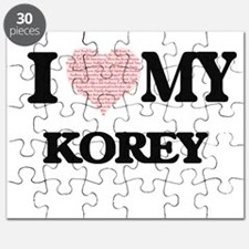 I Love my Korey (Heart Made from Love my wo Puzzle