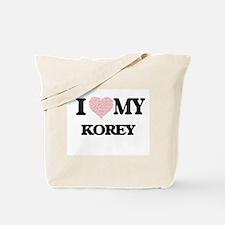 I Love my Korey (Heart Made from Love my Tote Bag