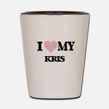 I Love my Kris (Heart Made from Love my Shot Glass