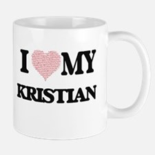 I Love my Kristian (Heart Made from Love my w Mugs