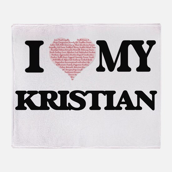 I Love my Kristian (Heart Made from Throw Blanket