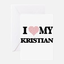 I Love my Kristian (Heart Made from Greeting Cards