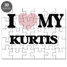 I Love my Kurtis (Heart Made from Love my w Puzzle