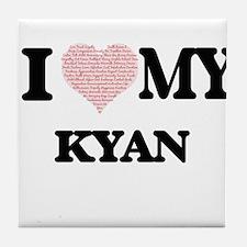 I Love my Kyan (Heart Made from Love Tile Coaster