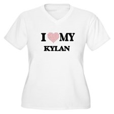 I Love my Kylan (Heart Made from Plus Size T-Shirt