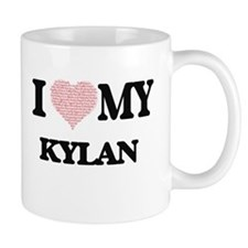 I Love my Kylan (Heart Made from Love my word Mugs
