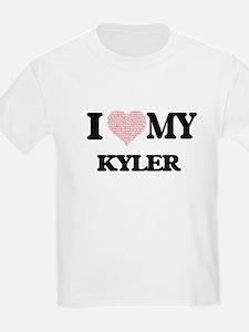 I Love my Kyler (Heart Made from Love my w T-Shirt