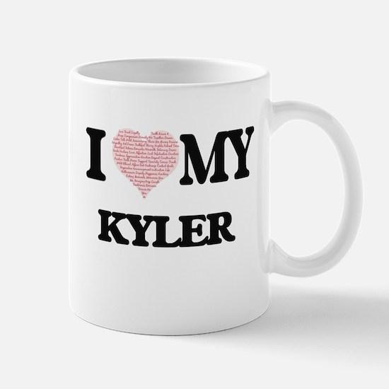 I Love my Kyler (Heart Made from Love my word Mugs