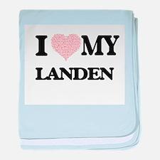 I Love my Landen (Heart Made from Lov baby blanket