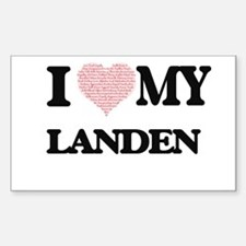 I Love my Landen (Heart Made from Love my Decal