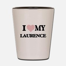 I Love my Laurence (Heart Made from Lov Shot Glass