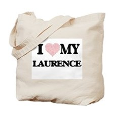 I Love my Laurence (Heart Made from Love Tote Bag