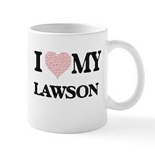 I Love my Lawson (Heart Made from Love my wor Mugs