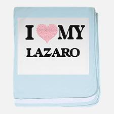 I Love my Lazaro (Heart Made from Lov baby blanket