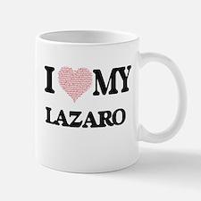 I Love my Lazaro (Heart Made from Love my wor Mugs