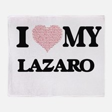 I Love my Lazaro (Heart Made from Lo Throw Blanket