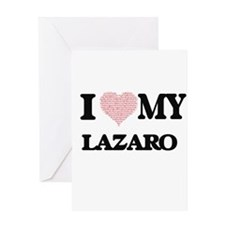 I Love my Lazaro (Heart Made from L Greeting Cards