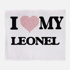 I Love my Leonel (Heart Made from Lo Throw Blanket