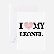 I Love my Leonel (Heart Made from L Greeting Cards