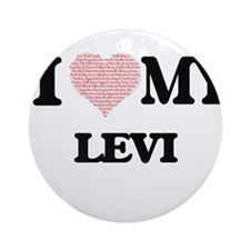 I Love my Levi (Heart Made from Lov Round Ornament