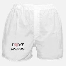 I Love my Maddox (Heart Made from Lov Boxer Shorts