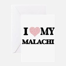 I Love my Malachi (Heart Made from Greeting Cards