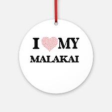 I Love my Malakai (Heart Made from Round Ornament