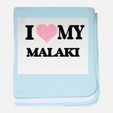 I Love my Malaki (Heart Made from Lov baby blanket