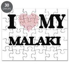 I Love my Malaki (Heart Made from Love my w Puzzle