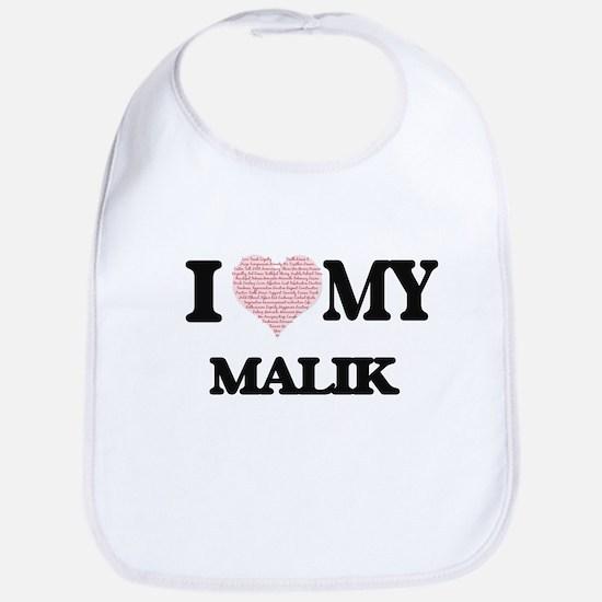 I Love my Malik (Heart Made from Love my words Bib
