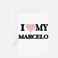 I Love my Marcelo (Heart Made from Greeting Cards