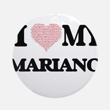 I Love my Mariano (Heart Made from Round Ornament