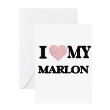 I Love my Marlon (Heart Made from L Greeting Cards