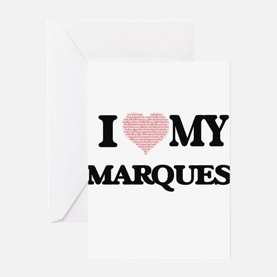 I Love my Marques (Heart Made from Greeting Cards