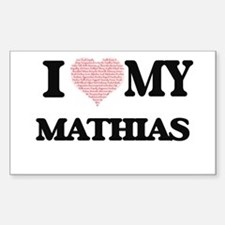 I Love my Mathias (Heart Made from Love my Decal