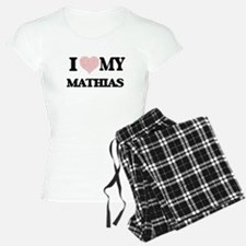 I Love my Mathias (Heart Ma Pajamas
