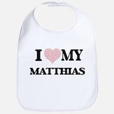 I Love my Matthias (Heart Made from Love my wo Bib