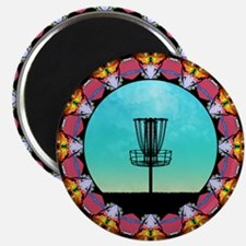 Disc Golf Abstract Basket 6 Magnets