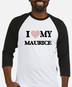 I Love my Maurice (Heart Made from Baseball Jersey