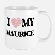 I Love my Maurice (Heart Made from Love my wo Mugs