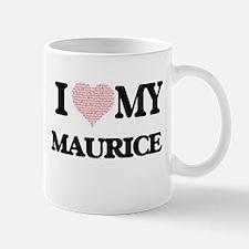 I Love my Maurice (Heart Made from Love my wo Mugs